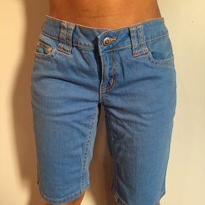 Pants - Denim Bermuda Shorts.